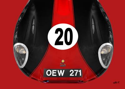 Lister Jaguar OEW 271 Poster by aRi F.