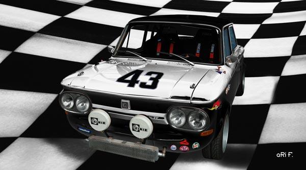 NSU 1200 TT Poster Bergrennen