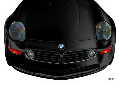 BMW Z8 Poster in black