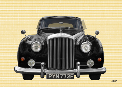 Bentley S2 Poster in black & chamoise