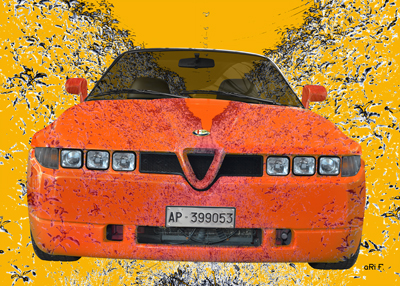 Alfa Romeo E 30 Art Car Poster