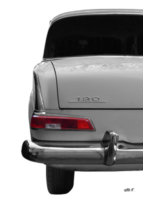 Mercedes-Benz W 110 Heckansicht Poster in Originalfarbe