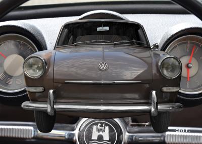 VW 1500 Typ 3 Poster mit Interieur in Originalfarbe