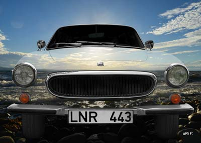 Volvo P1800 ES Poster in the air