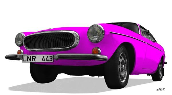 Volvo P1800 ES Poster in pink