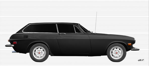 Volvo P1800 ES Poster in black & white