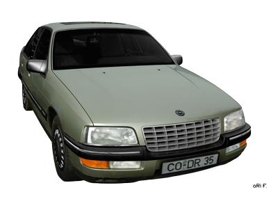 Opel Senator B Poster in light green metallic