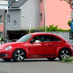VW Beetle in red color