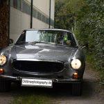Volvo P1800 E bei der Einfahrt zum Oldtimertreffen in Kressbronn