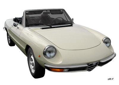 Alfa Romeo Spider Poster in Originalfarbe