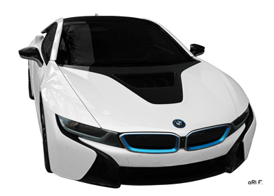 BMW i8 Poster in Originalfarbe