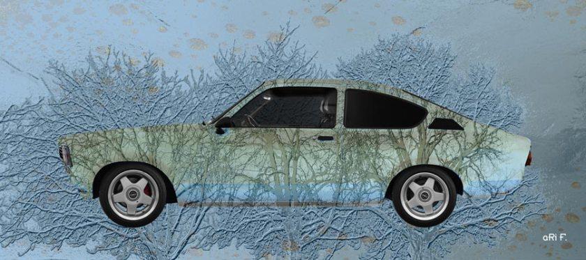 Opel Kadett C Art Car 3 Trees special Poster
