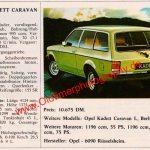 Opel Kadett C Caravan technische Daten 1979