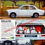 Opel Kadett C Limousine Werbung 70er Jahre