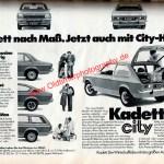 Opel Kadett City Werbung in auto katalog 1976
