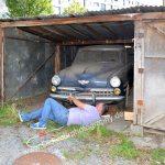 Studebaker Champion Bremsen fest, also Abschleppseil befestigen