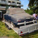 Studebaker Champion fertig verpackt auf Autotrailer