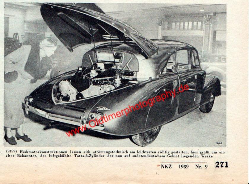 Tatra 87 in Neue Kraftfahrer Zeitung (NKZ) Seite 271 von 1939