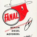 FANAL Benzin Werbung 1955