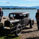 7. Kressbronn Classics am Bodenseeufer mit einem Ford Hot Rod aus den Zwanziger Jahren