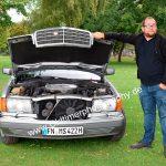 Mercedes-Benz W 126 420 SE und sein stolzer Besitzer beim Car shooting am Bodenseeufer