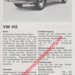 VW 412 technische Daten von 1973