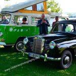 VW Bus T2 Camping und Mercedes-Benz V170