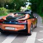 BMW i8 in E-Copper metallic rear view
