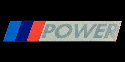 Logo BMW M-Power auf BMW E30 (M3) 1986–1991