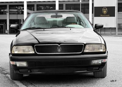 Maserati Quattroporte IV Poster in black