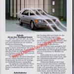 Mercedes-Benz C 126 Prospekt Innenseite 4