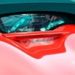 Porsche Boxster Spyder Blick durch das Sonnenverdeck nach innen