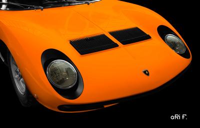 Lamborghini Miura Poster in original orange