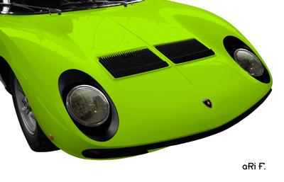 Lamborghini Miura Poster in original green