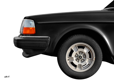 Volvo 244 GL Frontdetail Poster in black