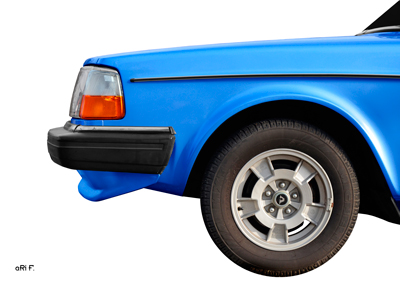 Volvo 240 Poster in light blue