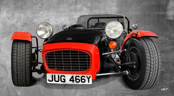 Caterham Super Seven Sprint Poster in black & red