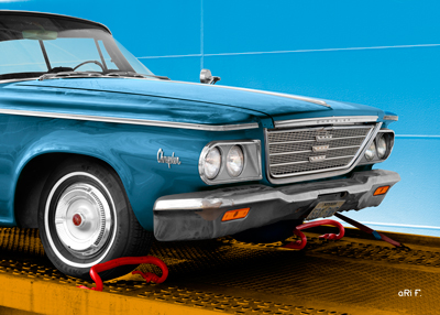 1964 Chrysler Newport Poster in blue