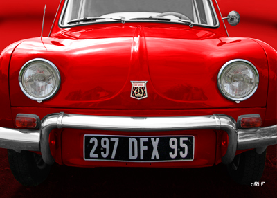 Renault Dauphin Poster red in red