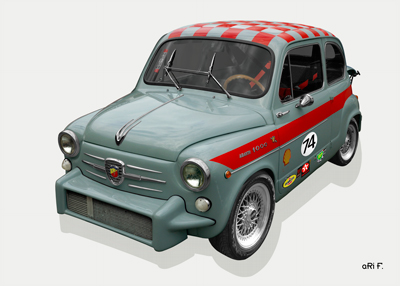Fiat Abarth 1000 TC Poster