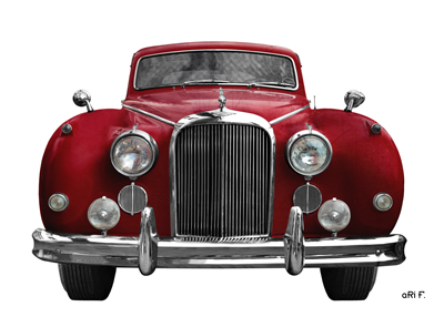 Jaguar Mark IX Poster in Originalfarbe