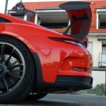 Porsche 911 Typ 991.1 GT3 RS Heckdetail auf Heckspoiler