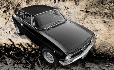 Alfa Romeo GT 1300 Junior Poster in black