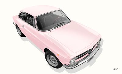 Alfa Romeo GT 1300 Junior Poster in rosé