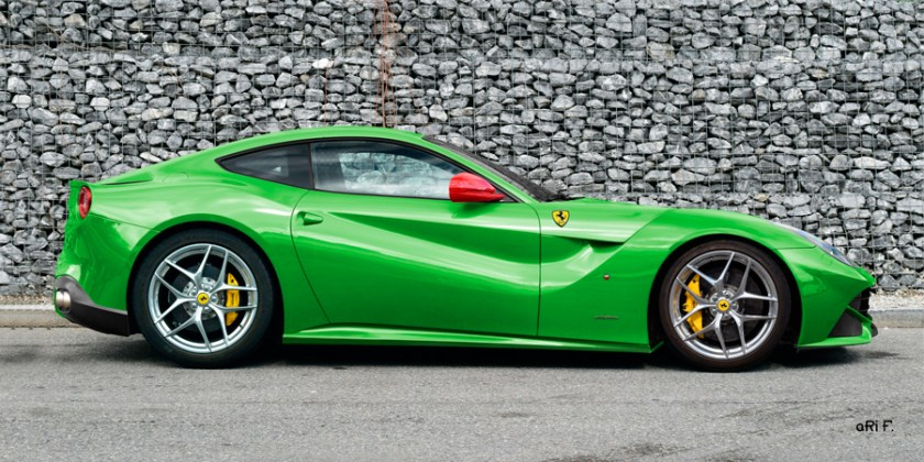Ferrari F12 Poster in racing green