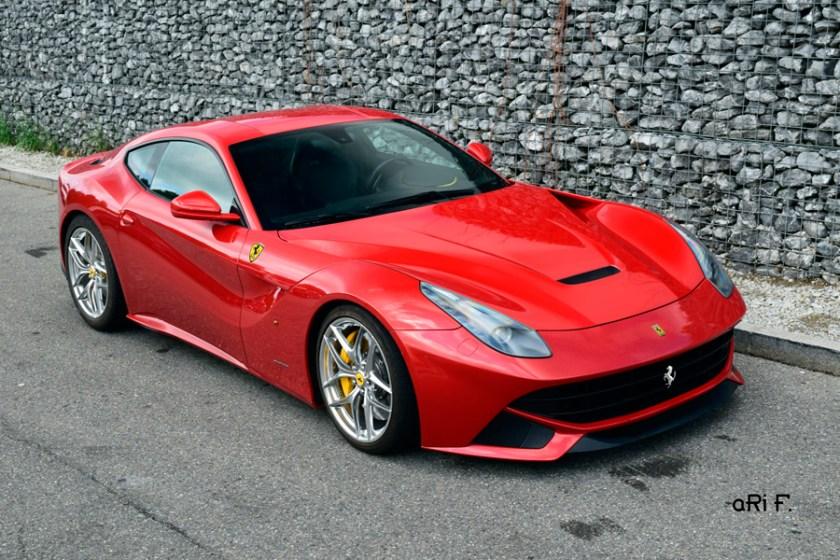 Ferrari F12 Poster in top view