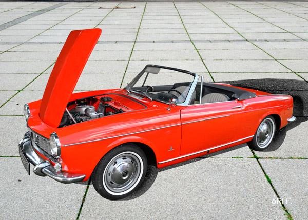 Fiat 1500 Spider Poster in Originalfarbe