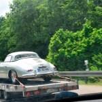 Porsche 356 mit angeschraubtem Hardtop und Felgen mit Schnellverschlüssen