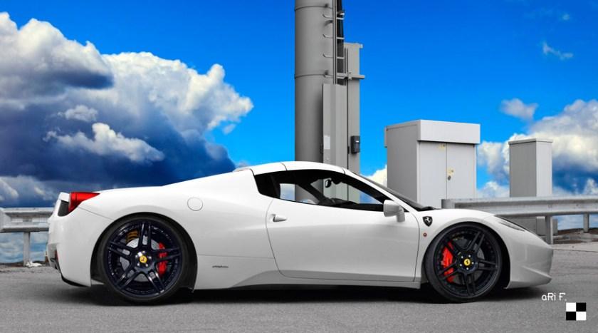 Ferrari 458 Spider Poster
