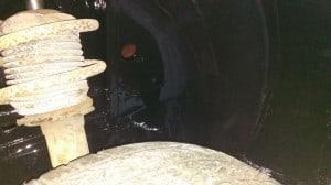 TR7 wheel arch with POR 15 2
